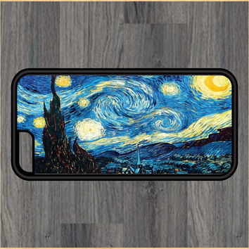Starry Night Van Gogh Art Print Design Art iPhone 4 / 4s / 5 / 5s / 5c /6 / 6s /6+ Apple Samsung Galaxy S3 / S4 / S5 / S6