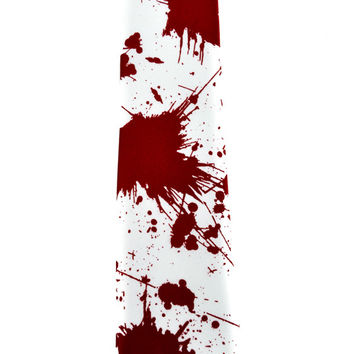 Blood Splatter Necktie Zombie Occult Clothing Tie