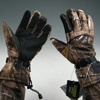 ONETOW New! Camouflage Autumn Winter Camo Windproof Waterproof Antiskid Movement Hunting Fishing Gloves