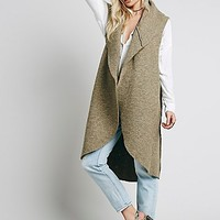Free People Womens Drapey Wool Vest