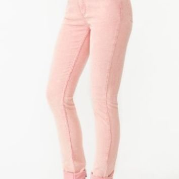 Second Skin Jeans - Pink Corduroy