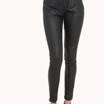 AMMO HIGH WAISTED VEGAN LEATHER LEGGINGS - Just In - What's New