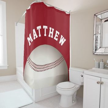 Shop Baseball Shower Curtain on Wanelo