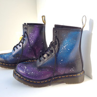 Hand-Painted Galaxy Doc Marten Boots