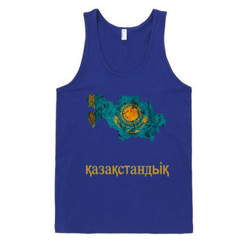 "The Kazakhstan ""қазақстандық"" Flag Tank Top"