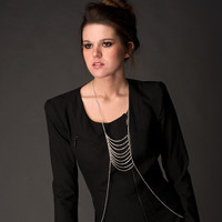 Jewelry New Arrival Gift Stylish Shiny Silver Tassels Body Chain Necklace [7241159111]