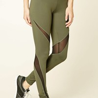 Active Mesh-Trim Leggings