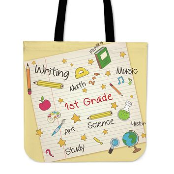 Elementary School Teacher Linen Tote Bag - Promo