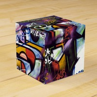 Colorful Graffiti Words Favor Box