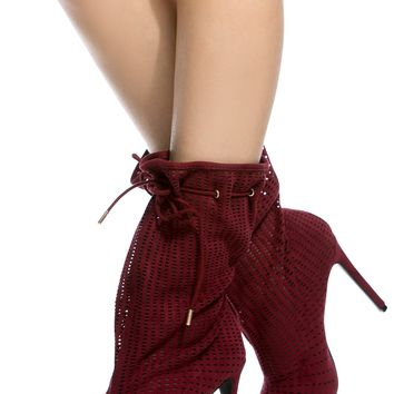 Burgundy Faux Suede Peep Toe Booties @ Cicihot Boots Catalog:women's winter boots,leather thigh high boots,black platform knee high boots,over the knee boots,Go Go boots,cowgirl boots,gladiator boots,womens dress boots,skirt boots.