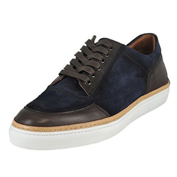 Kenneth Cole New York Men's Navy Suede Prem-Ium Low-Top Sneaker 10 M US