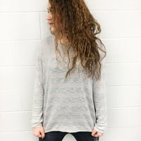 Grey Oversized Sweater - M