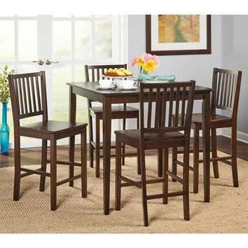 Simple Living Shaker Counter Height 5-piece Dining Set | Overstock.com Shopping - The Best Deals on Dining Sets