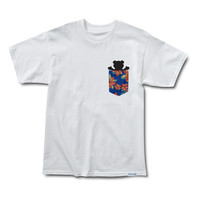 Topical High Pocket Tee in White