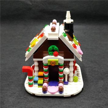 Girl Series Winter Village Christmas Scene Gingerbread House Building Blocks Model Friends For Girl Toys Compatible With Lego