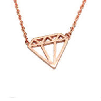 Diamond Necklace Rose Gold
