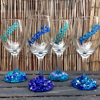 Bridesmaid Wine Glasses (set of 4 for the price of 3!)