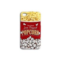 Cute Funny Food Popcorn Case iPhone Holder Phone Cover Food Movie Cool Girl Boy