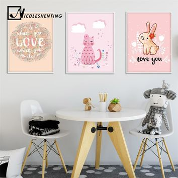 Sweet Art Canvas Prints Painting Nursery Wall Art Childrens Bedroom