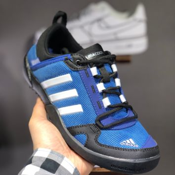 hcxx A1497 Adidas Climacool Daroga Two 3 Retro Hollow Wading shoes Blue