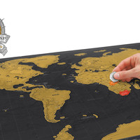 Scratch Map Deluxe Edition, superior travel gifts for men