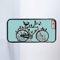 Cute bird on the Bicycle Plastic Case Cover for Apple iPhone 6 6 Plus 4 4s 5 5s 5c