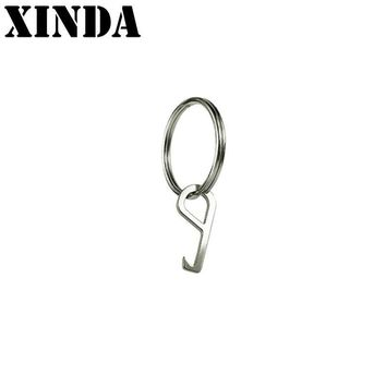 New Outdoor Camping Hilking Equipment EDC Bottle Opener Helper Unboxer Multifunction Tools Hex Stainless Steel Keychain YFY4687