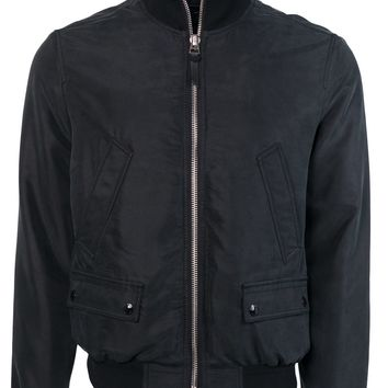 Tom Ford Men Black Satin Twill Light Fill Blouson Sport Jacket