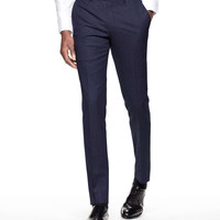 Sutton Suit Pant in Italian Natural Stretch Navy Wool