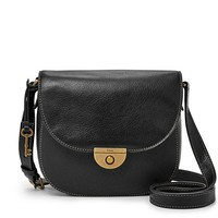 Emi Saddle Bag, Black | FOSSIL