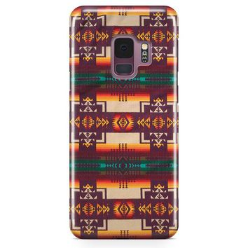 Pendleton Maroon Chief Samsung Galaxy S9 Case | Casefantasy