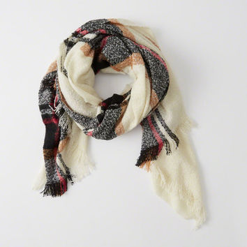 Womens Plaid Blanket Scarf | Womens Accessories & Jewelry | Abercrombie.com