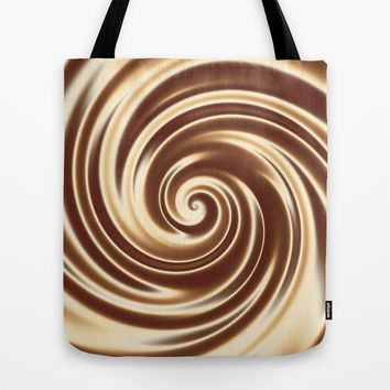 Chocolate milk cocktail spiral Tote Bag by Natalia Bykova