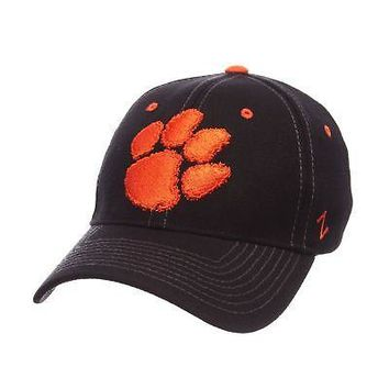 Licensed Clemson Tigers Official NCAA Black Element X-Large Hat Cap by Zephyr 996041 KO_19_1