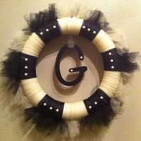 Monogram Wreath Custom for Wedding or Housewarming