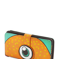 ModCloth Quirky Flying Burger People Eater Wallet