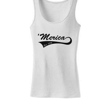 Merica Established 1776 Womens Tank Top by TooLoud