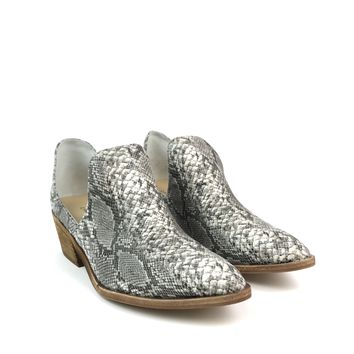 Grey Snake Skin Booties - Chinese Laundry