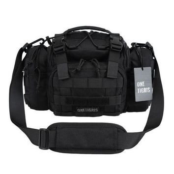 CREY3F OneTigris Tactical MOLLE Hunting Waist Bag Pack For Men 3 Ways Modular Deployment Utility Bag Heavy Duty with Shoulder Strap