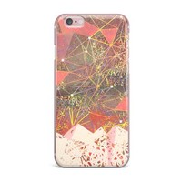 "Marianna Tankelevich ""Pink Space Mountain"" Multicolor Coral Mixed Media iPhone Case"