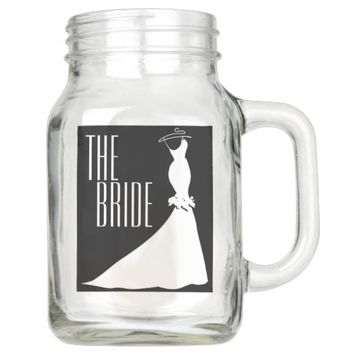 20 OZ THE BRIDE WEDDING GIFT MASON JAR
