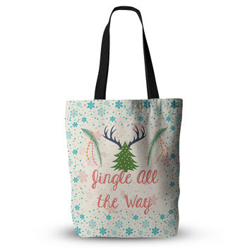 "Famenxt ""Jingle All The Way"" Holiday Digital Everything Tote Bag"