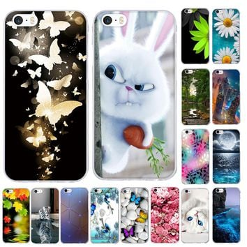 Silicone Cases for iphone 3D Pattern Soft TPU Slim