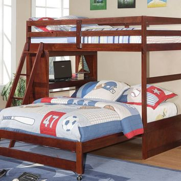Jacob Twin over Full Bunk Bed with Desk