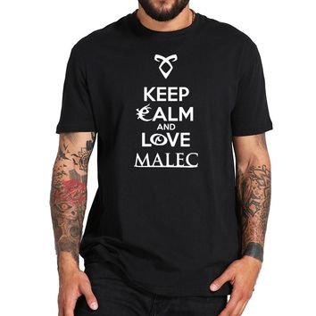 ShadowHunters Shirt Cool Fashion Summer Tops Round Collar Cotton Hipster T shirt Keep Calm And Love Malec