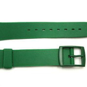 17mm Men's Dark Green Replacement Watch Band Strap fits SWATCH watches