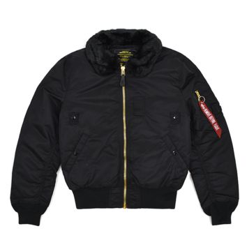 SOOP SOOP - Alpha Industries B-15 Flight Jacket, Black