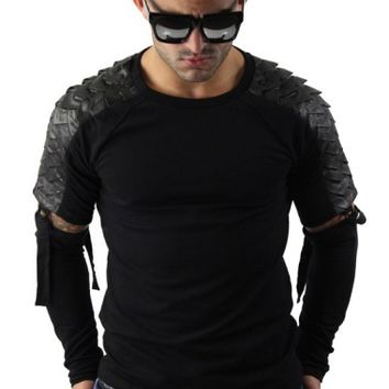 Black Goth Sweatshirt With Detachable Sleeves