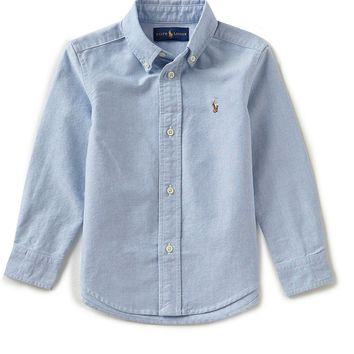 Ralph Lauren Childrenswear Little Boys 2T-7 Long-Sleeve Oxford Shirt | Dillards
