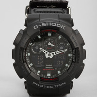 G-Shock GA-100 Military Cloth Band Watch - Urban Outfitters